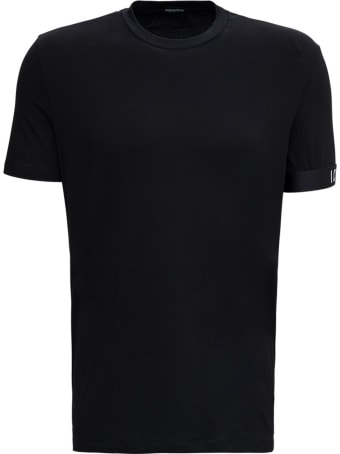 Dsquared2 Black Cotton T-shirt With Logo