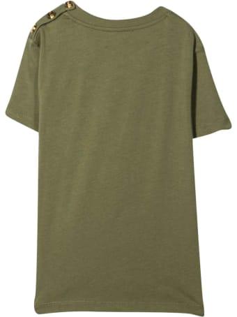 Balmain Unisex Military Green T-shirt