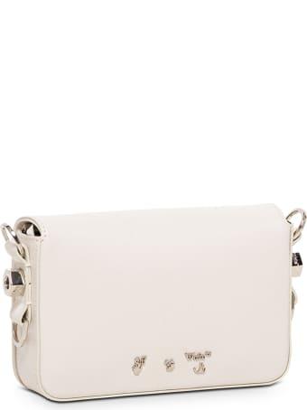 Off-White Mini Diag White And Black Leather Crossbody Bag