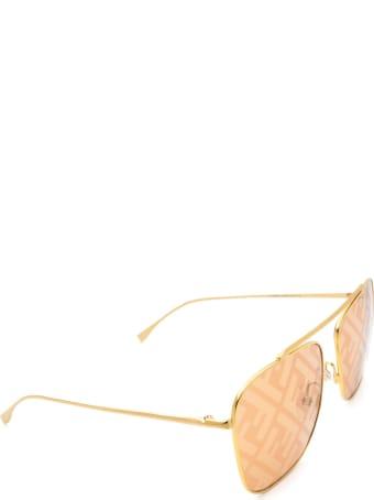 Fendi Fendi Ff 0406/s Gold Sunglasses