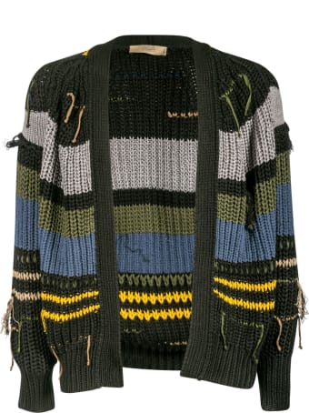 Maison Flaneur Ribbed Knit Cardigan