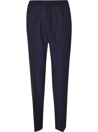 Versace Drawstring Waist Plain Trousers
