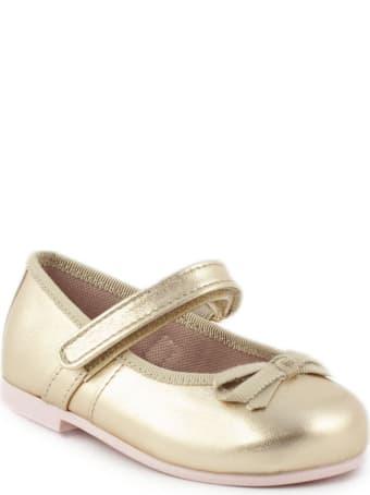 Pretty Ballerinas Gold Flat Ballerina