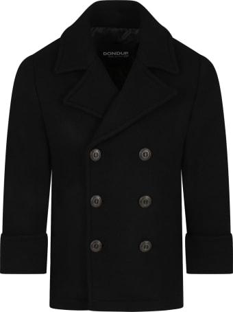 Dondup Black Coat For Boy