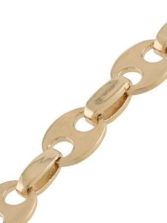 Paco Rabanne Chain Necklace In Golden Brass