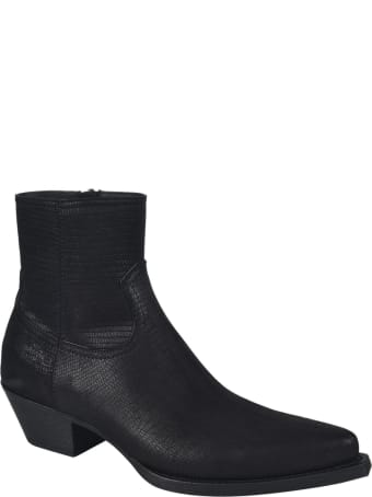 Saint Laurent Lukas 40 Zip Boots