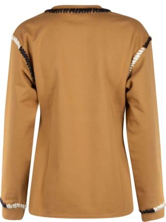 J.W. Anderson Asymmetric Contrast Stitch Sweatshirt