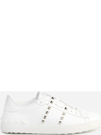Valentino Garavani Rockstud Untitled Sneakers In Leather