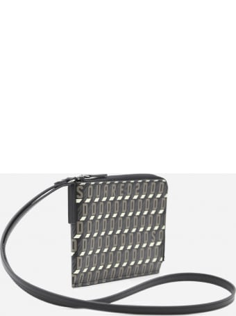 Dsquared2 Neck Pouch With All-over Monogram Print