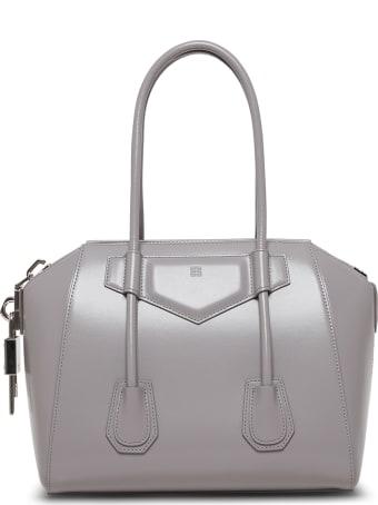 Givenchy Antigona Lock Gray Leather Handbag