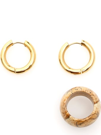 Timeless Pearly Earrings With Diaspore Pendant