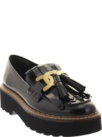 Tod's Loafer With Accessory, Fringe And Tassels