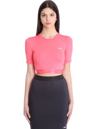 Fila Cylin T-shirt In Rose-pink Polyester