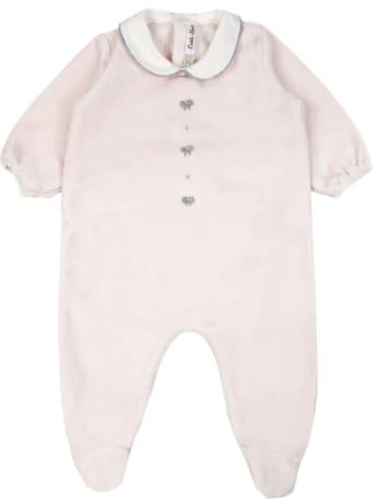 Little Bear Pink Stretch Cotton Romper