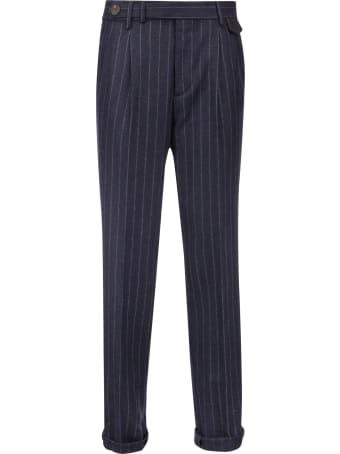 Brunello Cucinelli Wool Pinstripe Trousers