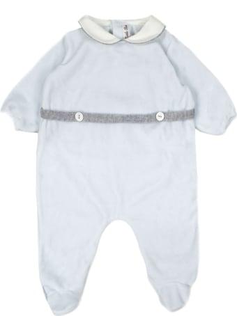 Little Bear Light Blue Stretch Cotton Romper