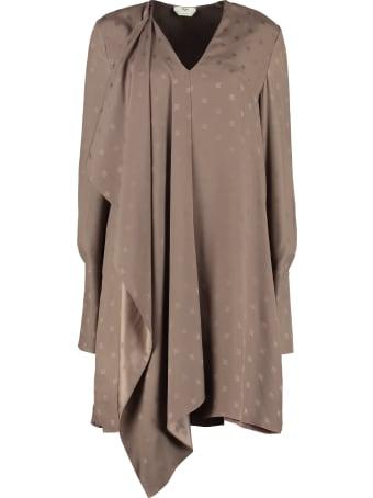 Fendi Ruffled Crepe Mini Dress