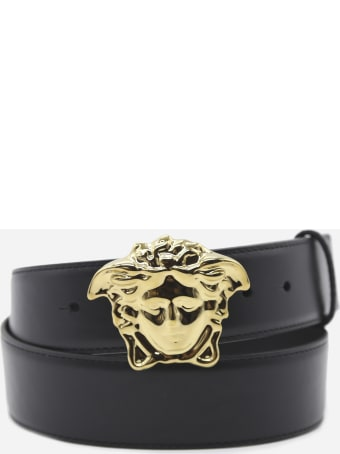 Versace La Medusa Leather Belt