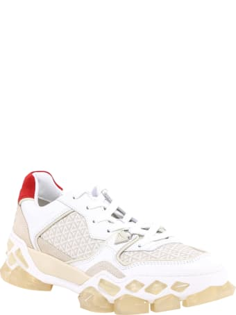 Jimmy Choo Lace-up Sneakers With Ribbon