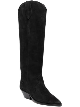 Isabel Marant Denvee Boots In Black Suede