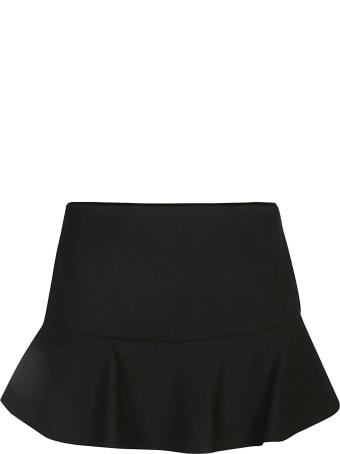 RED Valentino Rear Zip Flared Mini Skirt