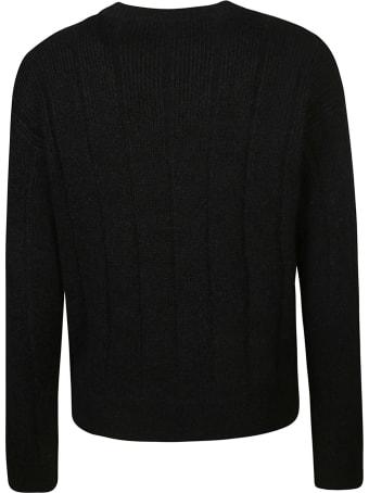 Saint Laurent Check Knit Sweater