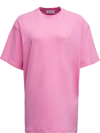 Balenciaga Pink Cotton T-shirt With Logo