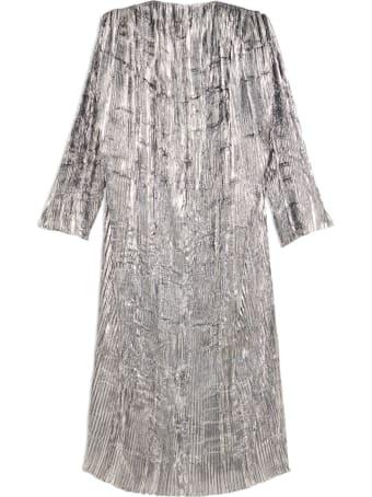 Balenciaga Pleated Dress Long Lurex