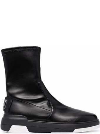 Casadei Space Jam  Bootie The Knee In Vegan  Leather Flat Boots