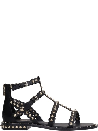 Ash Pixel 01 Flats In Black Leather