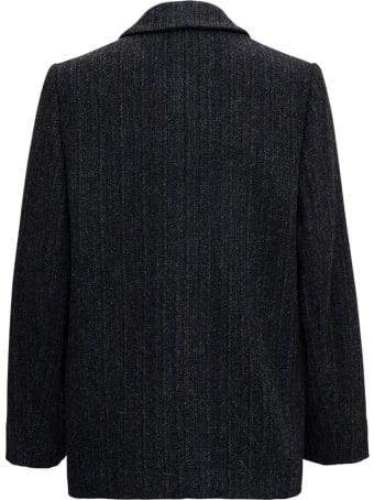 Isabel Marant Étoile Charly Blazer In Grey Wool