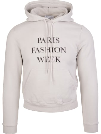 Balenciaga Unisex Grey Fashion Week Shrunk Hoodie