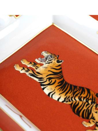 """Larusmiani Porcelain Ashtray """"crouching Tiger"""""""