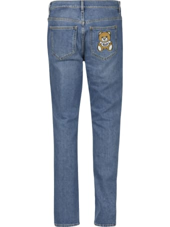 Moschino Bear Patched Classic Jeans