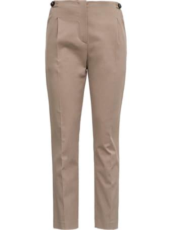 Tela Passo Pants In Beige Cotton