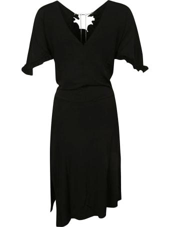 Paco Rabanne Crystal Embellished Asymmetric Dress