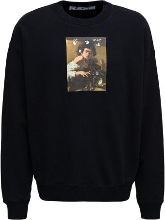 Off-White Black Cotton Sweatshirt With Caravaggio Print