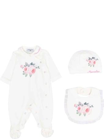Monnalisa Newborn White Onesie