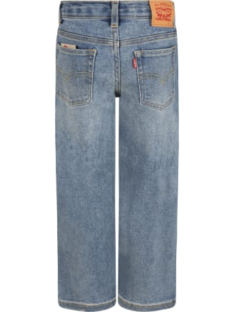 Levi's Light-blue Jeans For Kids With Logo