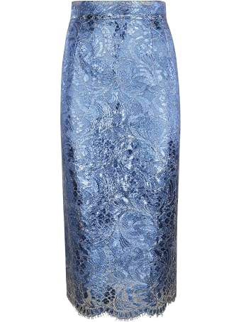 Dolce & Gabbana Floral Patterned Slim Skirt