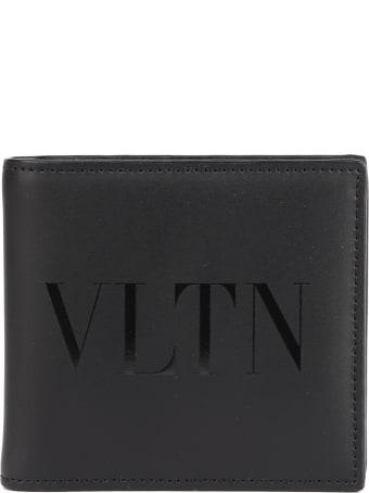 Valentino Garavani Leather Wallet With Vltn Logo