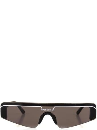 Balenciaga Woman Black Ski Rectangle Sunglasses