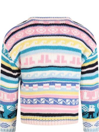 Lanvin Multicolor Sweater For Girl