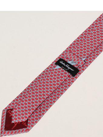 Salvatore Ferragamo Tie Salvatore Ferragamo Silk Tie With Micro Fish