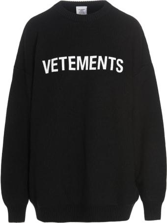 VETEMENTS 'monogram' Sweater