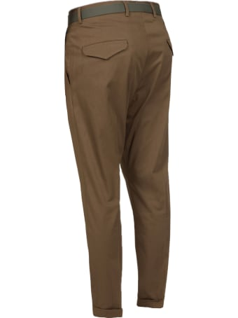 Low Brand Brown Stretch-cotton Trousers