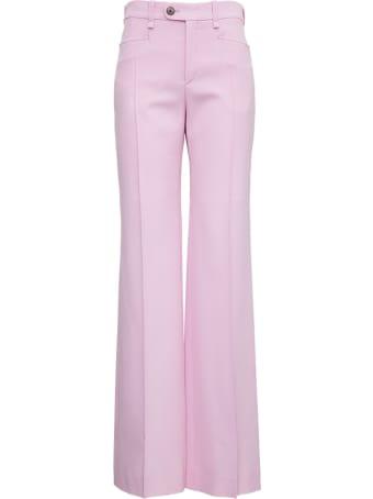 Chloé Flared  Grain De Poudre Pink Pants