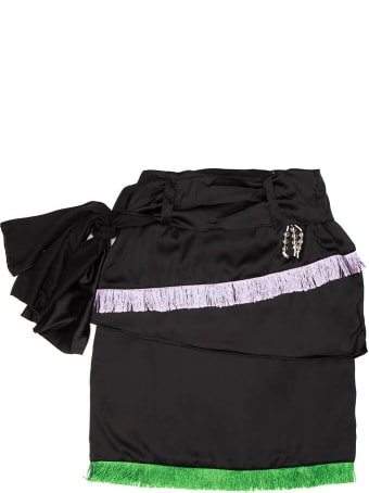 Youths In Balaclava Crows Wrap Skirt