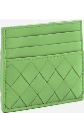 Bottega Veneta Leather Card Holder With Woven Pattern