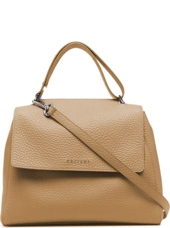 Orciani Sveva Soft Medium Beige Handbag